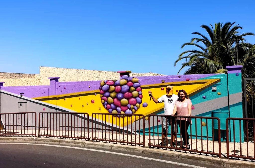 Los Realejos promueve ocho obras de arte mural en los exteriores de sus colegios públicos