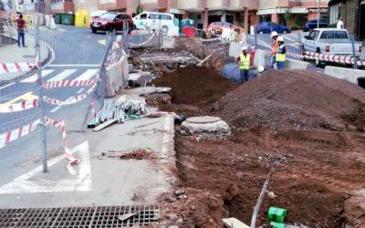 La obra de la Avenida de Canarias pasa a una nueva fase de asfaltado parcial y preparación de la mediana