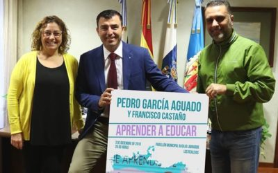 Pedro García Aguado vuelve el 3 de diciembre a Los Realejos con su conferencia 'Aprender a educar'