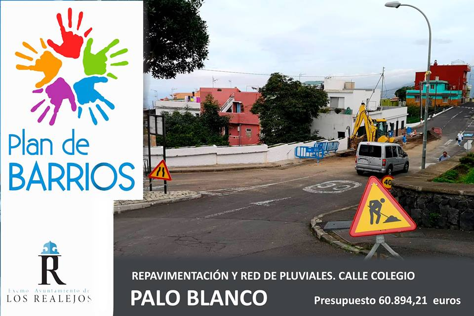 El Ayuntamiento invierte 60.894,21 euros en la dotación de red de pluviales y repavimentación de la calle Colegio