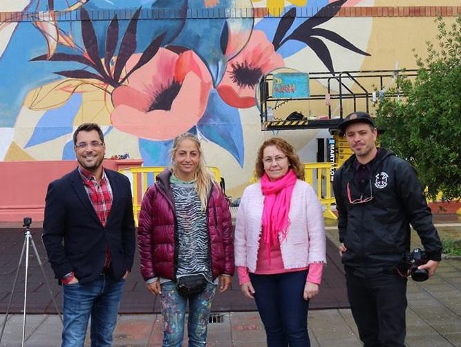 Los Realejos estrena el festival de arte urbano '6 de 12' con la artista valenciana Julieta Xlf