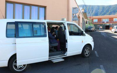 El taxi compartido de Los Realejos supera por vez primera los 20.000 usuarios en un año