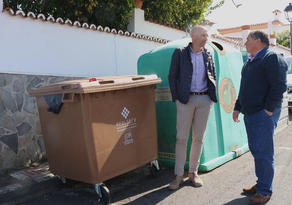 Los Realejos instala 50 contenedores para la recogida de restos de poda y material vegetal