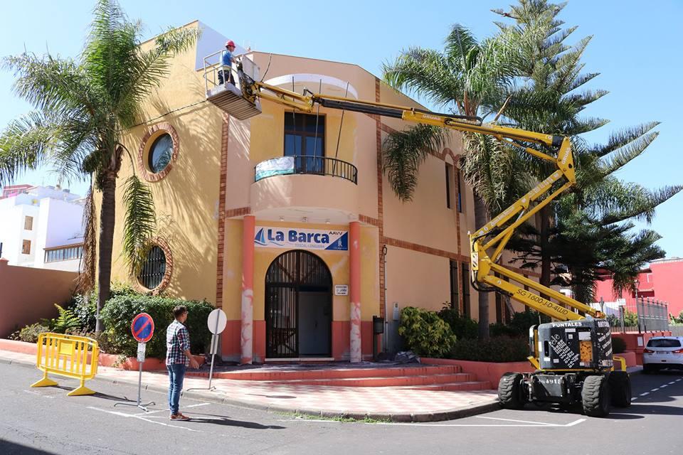 El Ayuntamiento invierte en obras de mejora en el centro social La Barca de Toscal Longuera