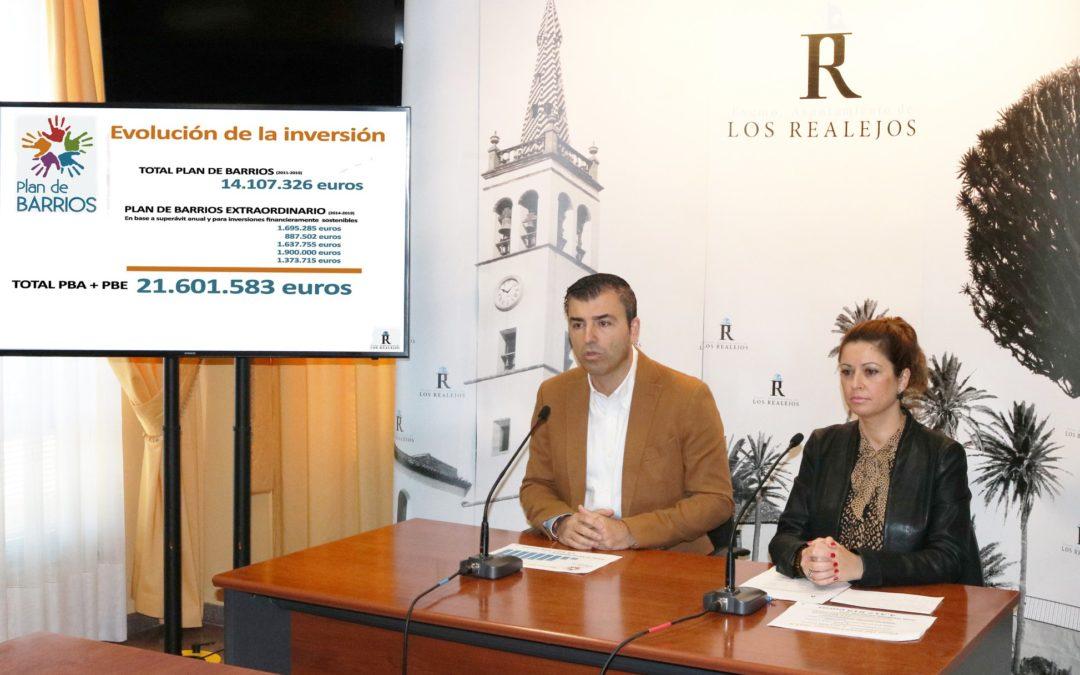 Los Realejos invierte en su 'Plan de Barrios' 21.601.583 euros desde 2011 hasta el presente ejercicio