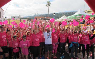 Los Realejos vuelve a teñirse de rosa este domingo en la Carrera de la Mujer y en favor de niños con cáncer