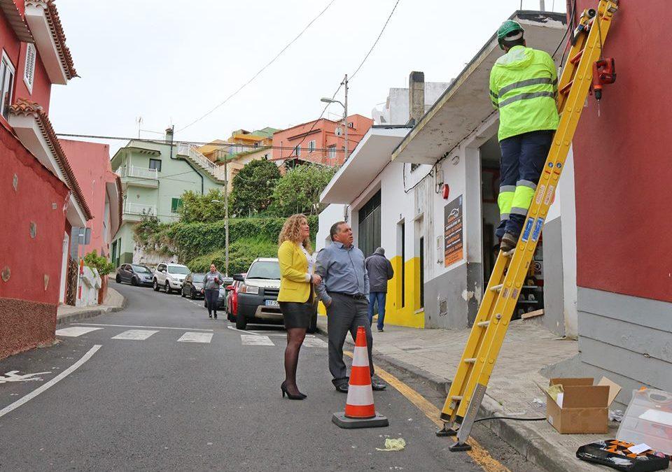 Con el despliegue de fibra óptica en Palo Blanco la cobertura alcanza el 82% de hogares y locales de Los Realejos