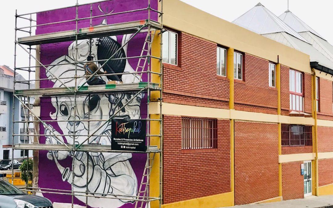 El festival de arte urbano de Los Realejos '6 de 12' crea su tercera obra de la mano del artista Tanausú Alemán