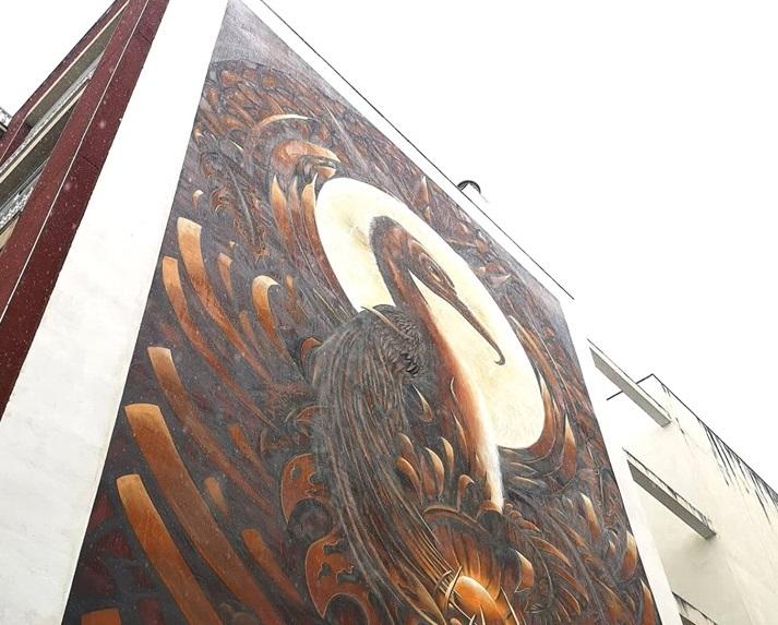 El festival de arte urbano de Los Realejos '6 de 12' crea su cuarta obra de la mano del artista tinerfeño Acaymo Padrino