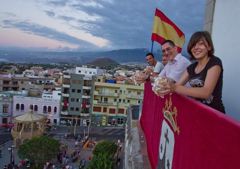 En Los Realejos lloverán caramelos este miércoles por la festividad de San Agustín
