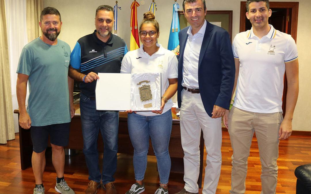 Elena Domínguez, una campeona de Europa realejera con la Selección Española de Waterpolo Cadete