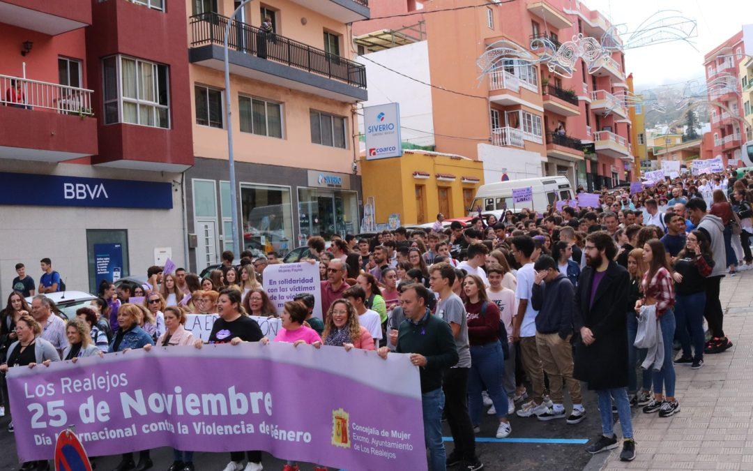 800 personas participan en Los Realejos en la Marcha Contra las Violencias Machistas de la Red del Norte por la Igualdad