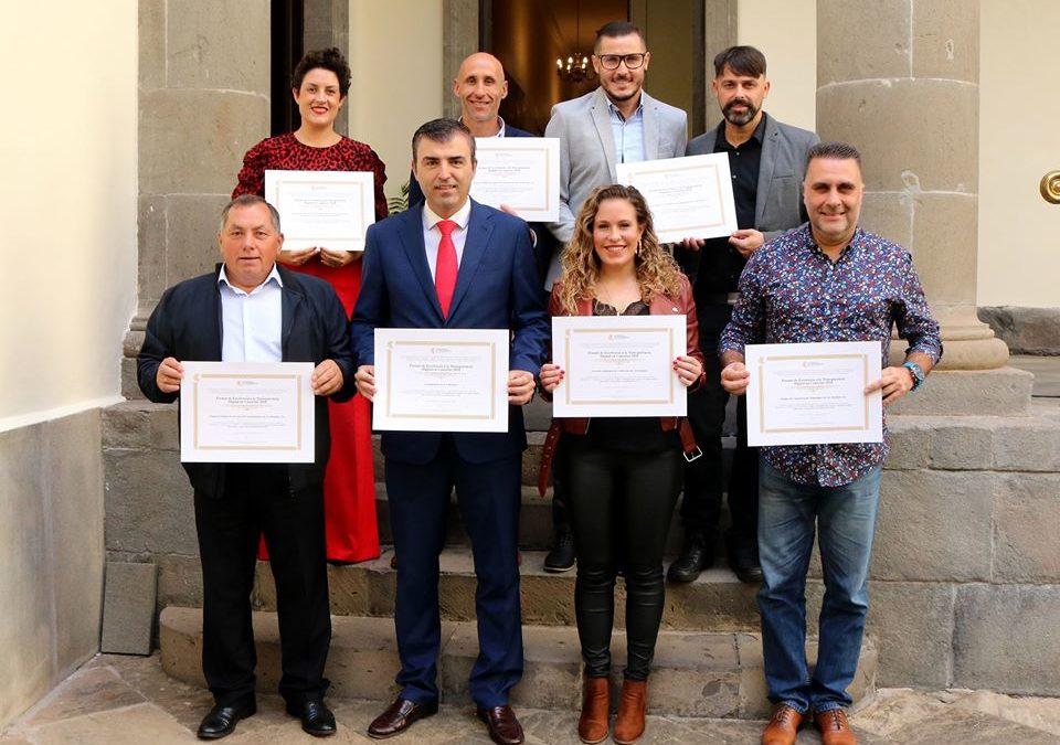 Los Realejos recibió en el Parlamento de Canarias siete distinciones a la transparencia en la gestión