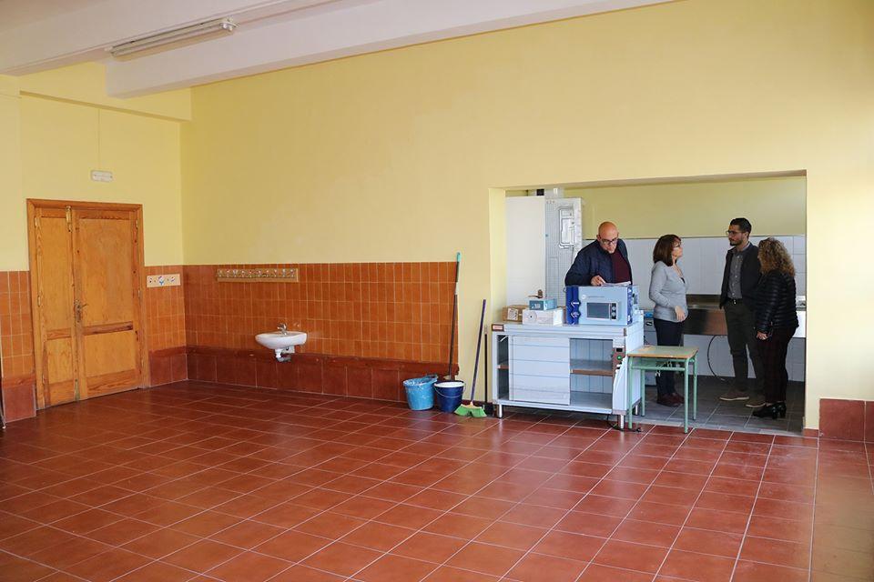 Las obras RAM del Ayuntamiento propician la habilitación del servicio de comedor en el CEIP San Sebastián