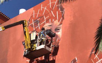 El artista internacional Matías Mata (Sabotaje Al Montaje) vuelve a pintar un nuevo mural en Los Realejos