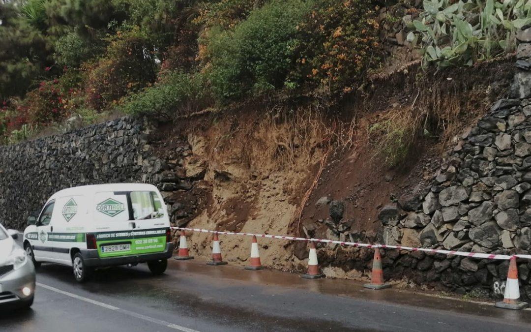 Los Realejos aguarda el informe de Medio Ambiente del Cabildo sobre el corte de la vía insular TF-333 en La Montaña