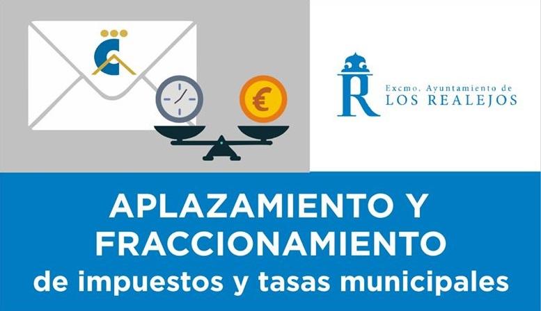 Aplazamiento y fraccionamiento de tasas e impuestos municipales