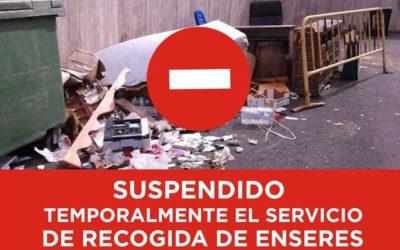 Suspendido temporalmente el servicio de recogida de enseres a domicilio en  Los Realejos