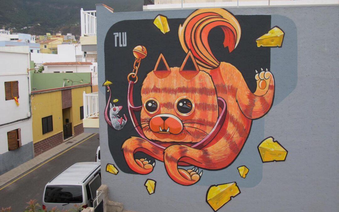 Una nueva obra mural del artista Ayoze Jiménez sigue complementando el museo al aire libre realejero