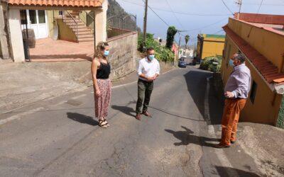 Los Realejos exige al Cabildo la reparación urgente del riego y los hundimientos en las calles Placeres y La Romera