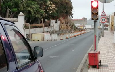 El Ayuntamiento advierte al Cabildo del riesgo manifiesto de derrumbe y escorrentías en el muro de La Montaña