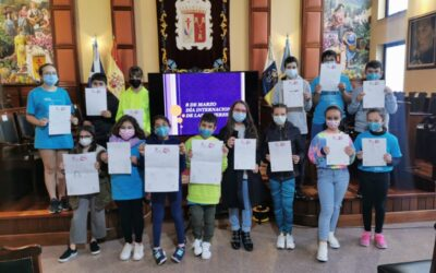 La infancia de Los Realejos diseña la campaña municipal del 8 M, Día Internacional de las Mujeres