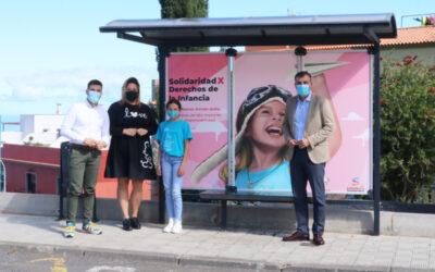 'Los Realejos por la solidaridad' visibiliza también los derechos de la infancia en su campaña de arte urbano