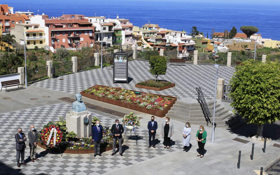 Los Realejos recuerda y homenajea a Viera y Clavijo en el 208 aniversario de su fallecimiento