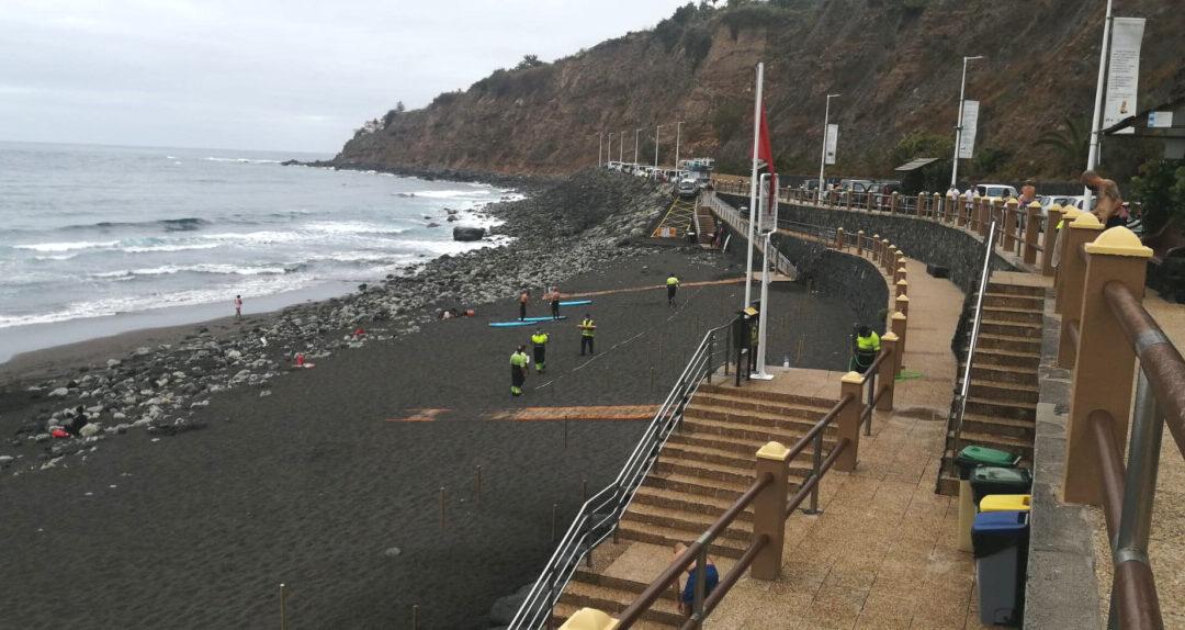 El Ayuntamiento retoma la parcelación de la playa de El Socorro como medida de control de aforo