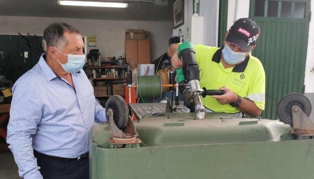 La reparación de contenedores desde Realserv ahorra cerca de 40.000 euros a las arcas municipales