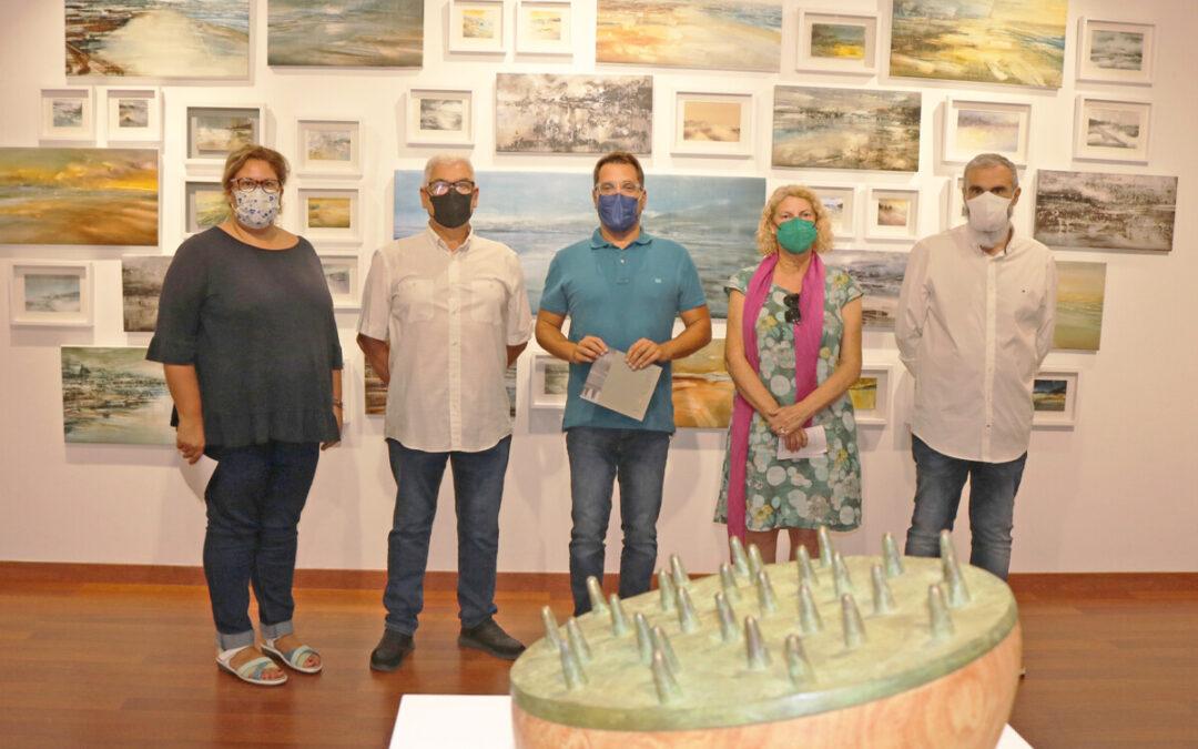 Cultura palmera en una exposición conjunta del pintor Roberto Batista y el escultor Medín Martín en Los Realejos
